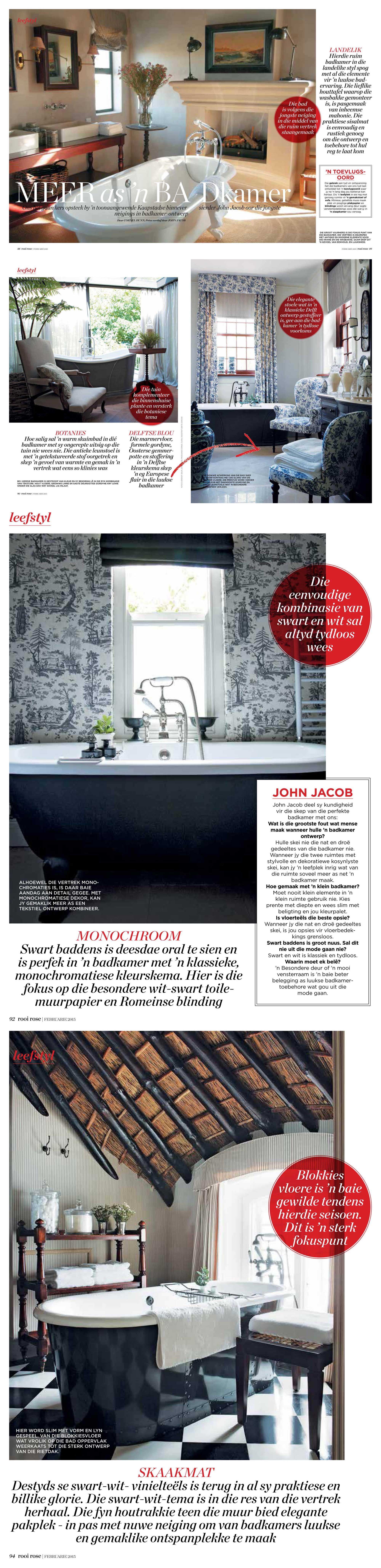 Rooi Rose magazine – February 2015 : John Jacob Interiors